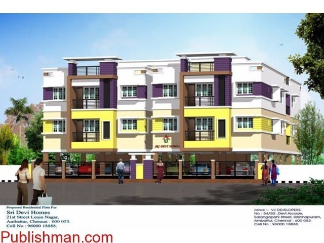 Sale  3 bhk flats at  Ambattur - 1/1