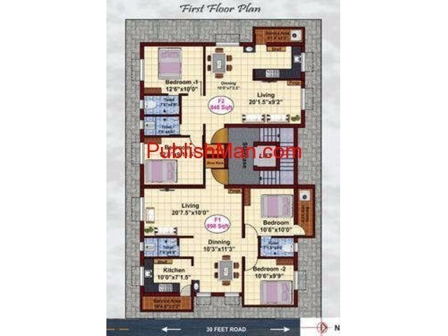JKB Tulips Park - 2 & 3bhk Apartments on sale at Mugalivakkam - 2/4