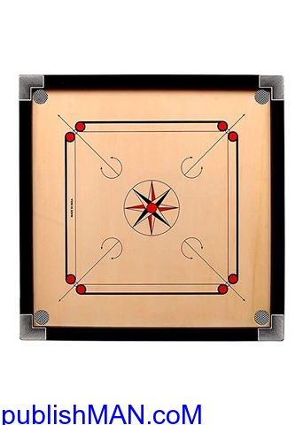 Wooden Finish 32 Inch Full Size Carrom Board - 1/2