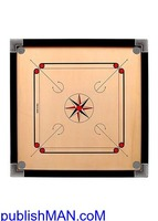 Wooden Finish 32 Inch Full Size Carrom Board - Image 1/2