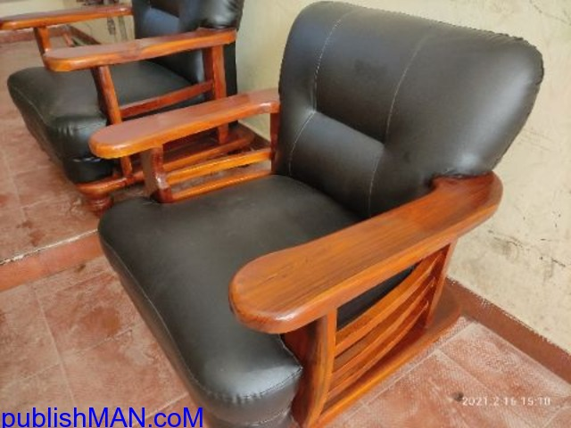 Teak wood sofa without cushion second hand price   Used Home & Office ... - 2/2