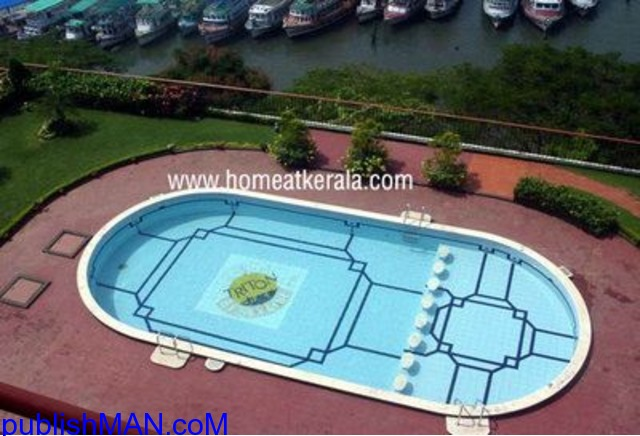Fully furnished waterfront for sale at marine drive Cochin - 1/3
