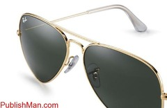 Ray-Ban Aviator Classic RB3025 Gold - Metal - Green Lenses ... - Image 1/4