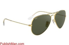 Ray-Ban Aviator Classic RB3025 Gold - Metal - Green Lenses ... - Image 2/4