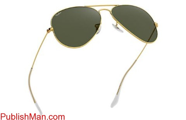 Ray-Ban Aviator Classic RB3025 Gold - Metal - Green Lenses ... - 3/4