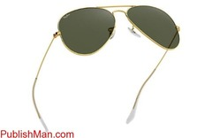 Ray-Ban Aviator Classic RB3025 Gold - Metal - Green Lenses ... - Image 3/4