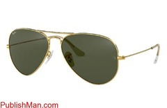 Ray-Ban Aviator Classic RB3025 Gold - Metal - Green Lenses ... - Image 4/4